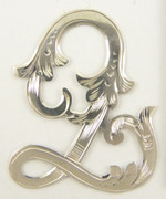 1900s - 1920s Antique Solid Silver Letter 'Q' 30mm with Silversmith's stamp Other Letters Available