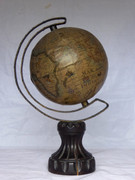 Vintage World Globe on Timber Stand Homemade?