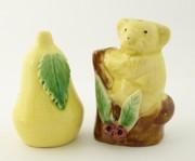 Australian Pottery Koala Shakers with Gumleaves Delamere