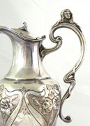 Superb Large Art Nouveau 1900s  Silver Water Jug
