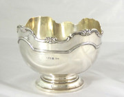 Antique 1912 Thick Solid Sterling Silver Bowl by Walker & Hall
