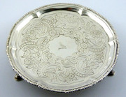 244 Year old Superb  1774 Antique Solid Sterling Silver Dish with The Devenish Family Crest  ?