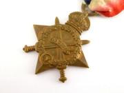 Original  WW1 1914 - 1915 Star 12580 DVR. R Barnes RFA