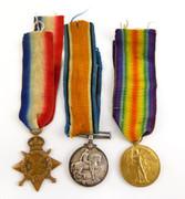 Original  WW1 War Medal Trio 745 GNR R Thompson RFA