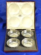 Boxed Set of Solid .935 Silver Bowls by P Orr and Sons Madra & Rangoon