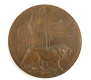 Death Plaque Penny WW1 Commonwealth Forces Casualty Joseph Brooks