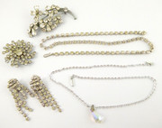 Collection of Vintage Costume Jewelry Necklace Brooches