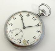 Antique Art Deco 1930s Mechanical Pure Nickle Cased Pocket Watch