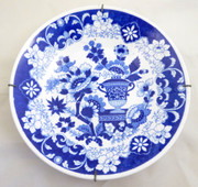 Antique 1820s Hilditch and Sons Willow Pattern Porcelain Bowl Wall Display 20cm