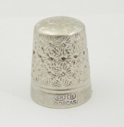Antique Silver Thimble Dorcas 8 Charles Horner Plated ?