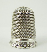 Antique Hallmarked 1900s Sterling Silver Thimble Stamped 6