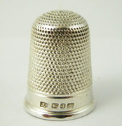 Large  Antique Hallmarked 1890 Sterling Silver Sewing Thimble Silversmith James Swann & Sons