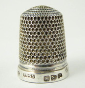 1891 Antique Sterling Silver Sewing Thimble 13  Henry Griffith & Sons