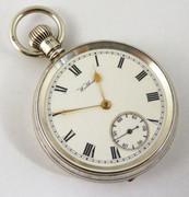 Antique 1914 Hallmarked Sterling Silver Waltham Pocket Watch (Needs Work)