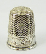 1889 Antique Sterling Silver Sewing Thimble 14  Henry Griffith & Sons