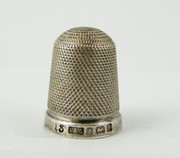 Hallmarked 1900 Antique Sterling Silver Sewing Thimble