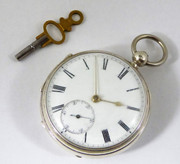 Antique Hallmarked 1877 Sterling Silver Pocket Watch Woodraff Dover