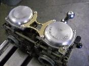 XS 650 Brass Carb Brace