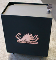 Buffalo Battery Box W/ Lid Black by Monstercraftsman U.S.A. w/ Buffalo Nickel Wingnut