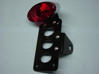 """Cat's Eye"" Side Mount Tail Light License Plate Bracket"