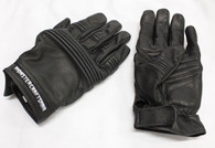 Leather Motorcycle Gloves - Black