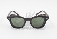 Monstercraftsman Vintage Safety Glasses - Black Frame - Green - 48mm