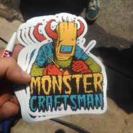Monstercraftsman Die Cut Vinyl UV laminated Sticker - Green Eggs and Spam