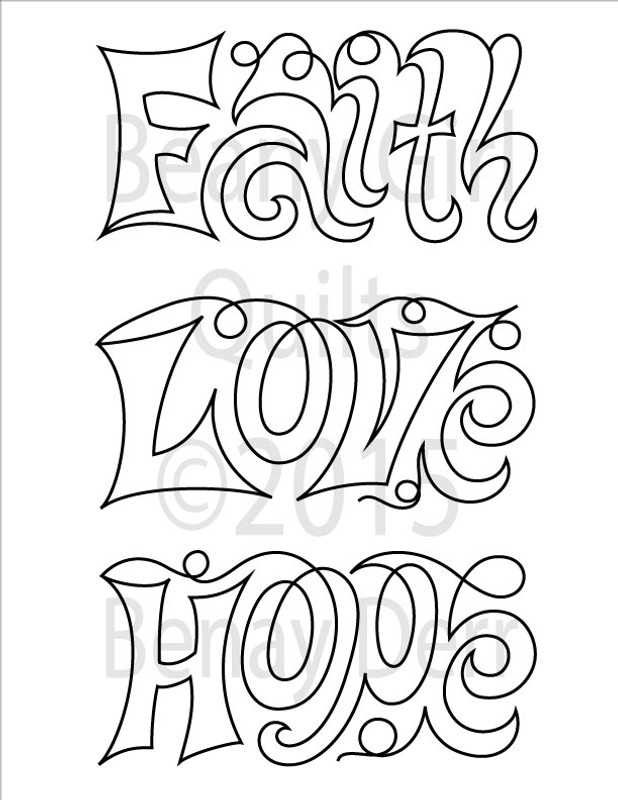 HOPE, FAITH, LOVE BLOCKS | Digital Version