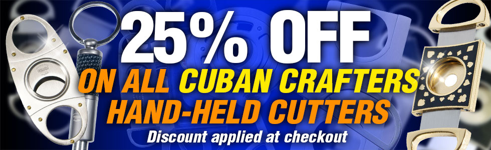 Cigar Cutter Sale 25% Discount on Cuban Crafters Cigar Cutters