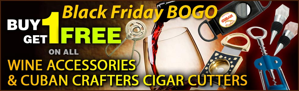 Buy one cigar cutter or wine accessory and get another of equal or lesser value for FREE