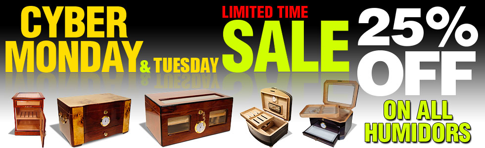 Cigar Humidor Cyber Monday Sale