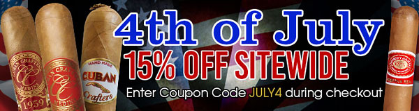 Discount Cigars and Humidors July 4th Sale