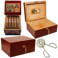 COMBO CIGARS AND HOME HUMIDOR SALE INCLUDES ESPECIAL MAPLE WOOD HUMIDORS, 25 LA CAROLINA TORPITO CIGAR, CC-17 REVOLUCION CUTTER (Over $259.97 Value Combo)