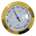 BRASS HUMIDOR HYGROMETERS FOR HUMIDORS - LARGE ANALOG HYGROMETER