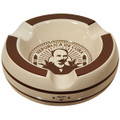 CIGARS ASHTRAYS CLASICO -  OFF WHITE PORCELAIN WITH BROWN - THREE GROOVES