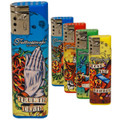 CHEAP TORCH LIGHTERS 3 PACK - TATTOO DESIGN - BUTANE