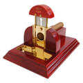 TableTop Cigar Cutter Red Mesa Fina Rojo Cherry Wood Gold