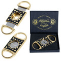 POKER CIGAR CUTTER - GOLD POKER THEME PERFECT CUTTERS - CUTS THE EXACT AMOUNT OFF THE CIGAR HEAD - FOR ALL RING GAUGES