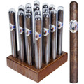 INDIGO TUBOS IN SEALED CIGAR TUBES - MADURO - 6 1/2 X 44 - WOOD BOX OF 16