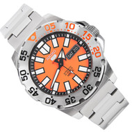 Seiko 5 Orange Dial WR100m Monster Day Date Sports Mens Watch SRP483K1