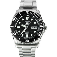 Seiko 5 Automatic SNZF17J1 Metal Diving Day and Date Mens Sports Watch