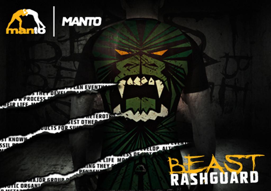 "MANTO ""BEAST"" RASHGUARD Short Slv Green"