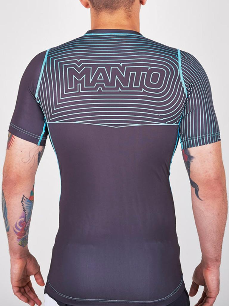 "MANTO ""HYBRID"" RASH GUARD Black/Blue"