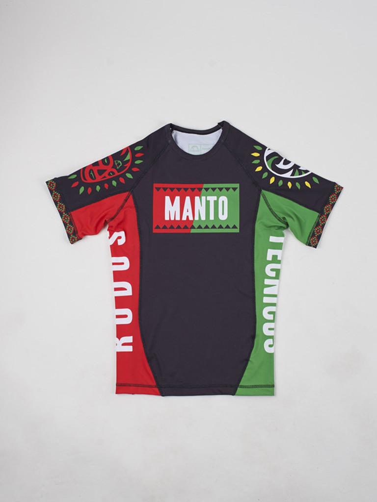 "MANTO ""LUCHA"" RASH GUARD Red/Green"