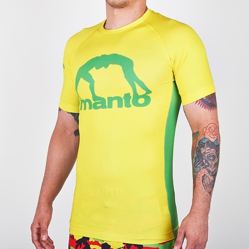 """MANTO """"RIO"""" RASH GUARD  Yellow"""