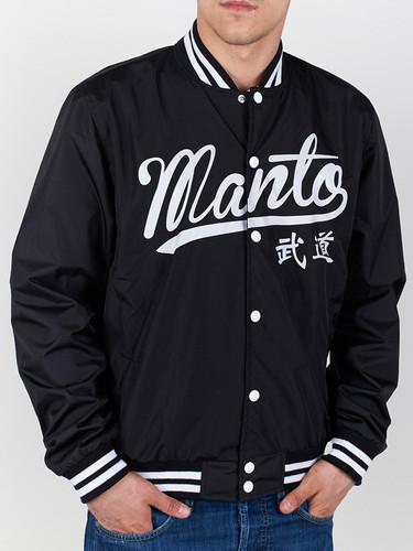 """MANTO """"TOKYO"""" VARSITY JACKET Black"""