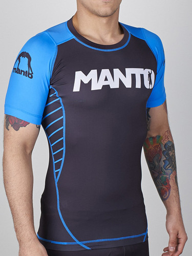"MANTO ""CHAMP"" RASHGUARD Blue - IBJJF Approved"