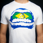 "Tshirt ""GRILLZ BRAZIL"" White"