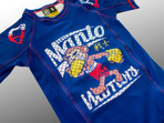 "MANTO ""WARRIORS"" RASH GUARD Blue for Kids"