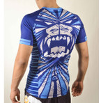 "MANTO ""BEAST"" RASH GUARD Short Slv Blue"